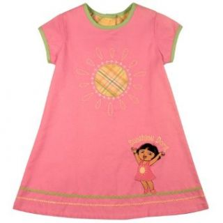 Dora the Explorer Girls 2 6x Dora Pink With Green Collar, Pink, 2T Dresses Clothing