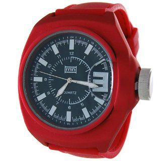 Mark Naimer Fashion Watch in Red Silicone Bands with Black Dial   Japan Movement Watches