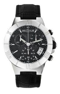 Saint Honore Men's 890420 1GNIB Worldcode Black Leather Chronograph Date Watch Watches
