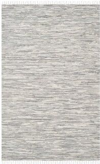 Safavieh MTK753A Montauk Collection Hand Woven Cotton Area Runner, 2 Feet 6 Inch by 4 Feet, Silver