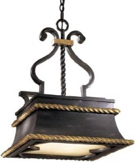 Metropolitan N6111 20 Three Light Down Lighting Pendant from the Montparnasse Collection, French Black   Ceiling Pendant Fixtures