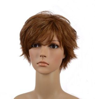 Light Brown Pixie Cut Short Wig  Light Easy Care Wig  Hair Replacement Wigs  Beauty