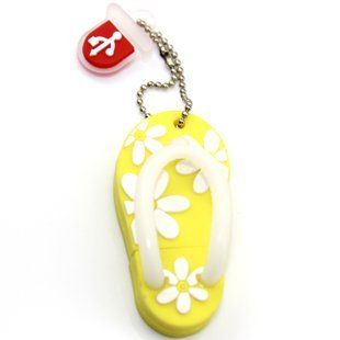 Slippers U Disk, Cartoon Usb Flash Drive, Creative Usb Flash Drive, 16 G, Yellow   Key Chain Frames