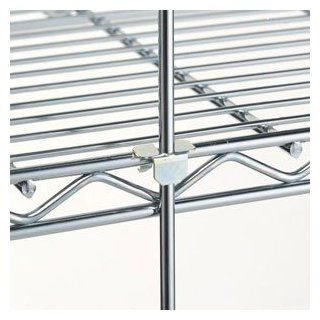 "Metro R52S 52"" Stainless Steel Wire Shelving Rod   Standing Shelf Units"