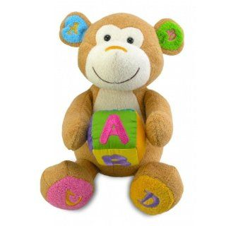 "Cuddle Barn AlphaBet Charlie   Animated Musical Plush Toy Sings ""ABC song"" Toys & Games"