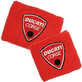 Ducati Corse Red Brake and Clutch Reservoir Sock Cover Set Fits 748, 749, 848, 848 Evo, 916, 996, 998, 999, 1098, 1198, ST2, ST3, ST4, Streetfighter, Hypermotard, Multistrada, Monster 1100 Automotive