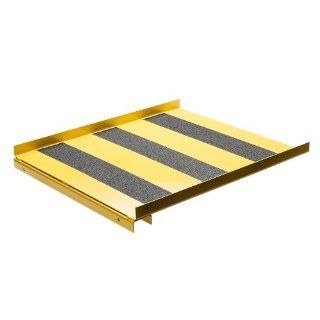 "New Pig CAB776 Heavy Duty 12 Gauge Steel Ramp, 500 lbs Load Capacity, 24"" Length x 28"" Width, For Vertical Drum Flammable Safety Cabinet"