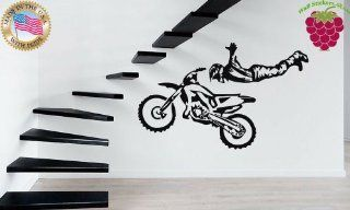 Wall Stickers Vinyl Decal Motorcycle Bike Racing Extreme Sports Freestyle Motocross ig666   Wall Decor Stickers