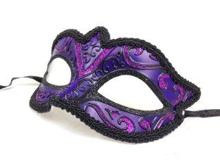 Classic Venetian Purple Masquerade Ball Masks   Venetian Eye Mask Toys & Games