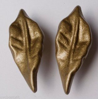 "Knob Hill Kitchen Cabinet Handles Drawer Pull P17023v gm c Golden Leaf 2 1/2"" SET of SIX   Cabinet And Furniture Knobs"