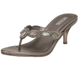 Kenneth Cole REACTION Women's Lush Kiss Thong,Pewter,5 M US Shoes