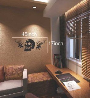 Large  Easy instant decoration wall sticker wall mural halloween home decal costumes bat howl angel black blood bone boo candy cat crown fall witch spider web prince pumpkin scarecrow ghost house RIP FL761   Childrens Wall Decor