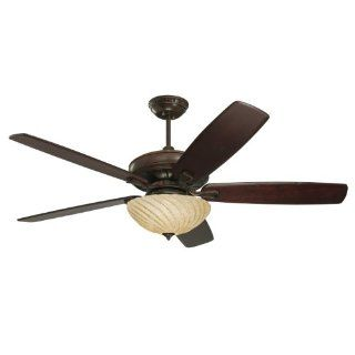 Emerson CF787VNB Carrera Grande Indoor/Outdoor Ceiling Fan, 54 Inch, 60 Inch or 72 Inch Blade Span, Venetian Bronze Finish, Blades Sold Separately   Ceiling Porch Lights