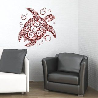 BIG Sea Turtle Vinyl Wall Decal Sticker Art  Home D�cor Burgundy/Reversed