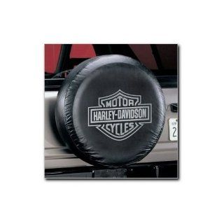 PlastiColor 795 Gray Harley Davidson Spare Tire Cover Automotive