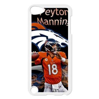 Custom DIY Design 6 Sports NFL Denver Broncos Star Peyton Manning Print White Case With Hard Shell Cover for iPod Touch 5th Cell Phones & Accessories