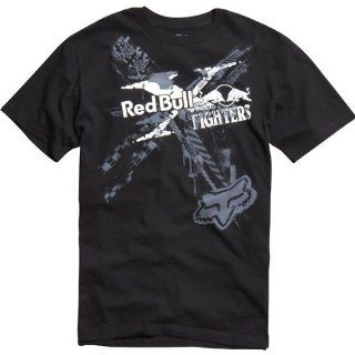 Fox Racing Red Bull X Fighters Exposed Men's Short Sleeve Fashion Shirt   Black / 2X Large Automotive