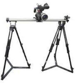 PROAIM 3ft Igus Dolly Linear Slider Rail Rail for Cameras with TWO tripod stands (75mm head) and Carry Cases  Camera & Photo