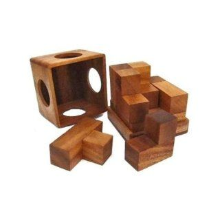 Soma Cube (Medium) Wooden Brain Teaser Puzzle Toys & Games