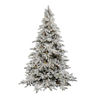 Utica Flocked Pre lit LED Christmas Tree   Christmas Trees