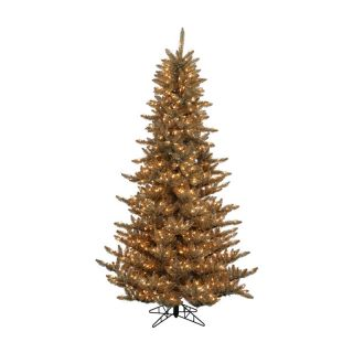 Antique Champagne Fir Pre Lit Christmas Tree   Christmas Trees