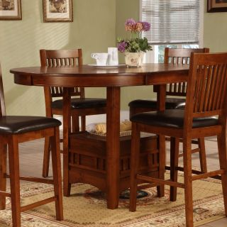 Graham 60 in. Oval Counter Height Table with Leaf   Dining Tables