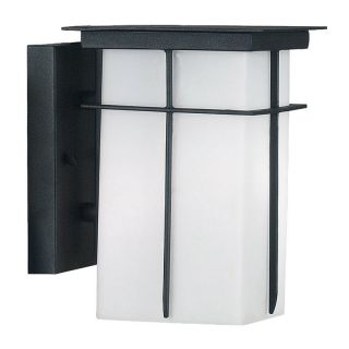 Kenroy Home Mesa Energy Star Wall Lantern Textured Black   Outdoor Wall Lights