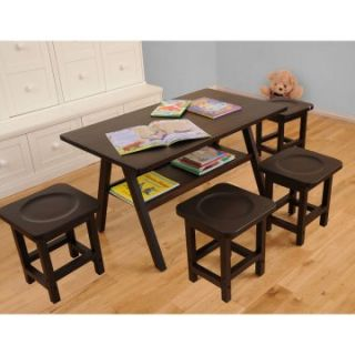 Drew Kids 5 pc. Play Table Set with 4 Stools   Activity Tables