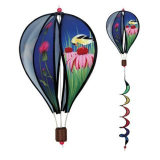 Premier Designs 16 in. Finches Hot Air Balloon Wind Spinner   Wind Spinners