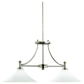 Kichler Pool Table Two Lights/Incandescent Island Light Brushed Nickel 19 inches   Billiard Lights