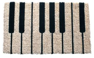 Piano Hand Woven Coir Doormat   Outdoor Doormats