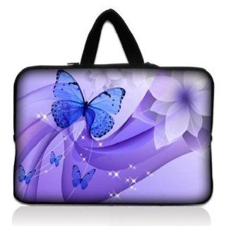 "Brand new Dancing Butterfly 9.7"" 10"" 10.1"" 10.2"" inch Neoprene Laptop Netbook Tablet Case Neoprene Sleeve Carrying bag with Hide Handle For iPad 2 3/Asus EeePC 10 transformer/Acer Aspire one/Dell inspiron mini/Samsung N145/Toshiba/Kindl"