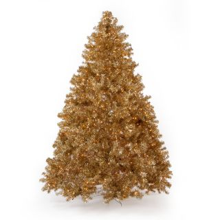 Classic Champagne Full Pre lit Christmas Tree   7.5 ft.   Clear   Christmas Trees
