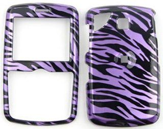 Pantech Reveal c790 Transparent Design, Purple Zebra Hard Case/Cover/Faceplate/Snap On/Housing/Protector Cell Phones & Accessories