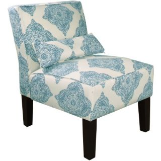 Skyline Armless Chair   Mani Aqua   Accent Chairs