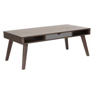 Euro Style Daniel Coffee Table with Drawer   Walnut / Gray   Coffee Tables