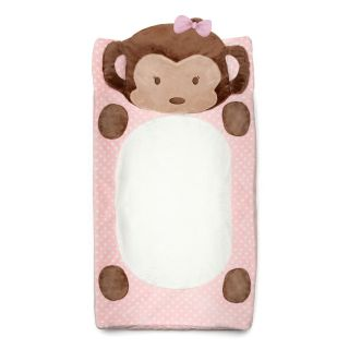 CoCaLo Girl Monkey Plush Changing Pad Cover   Changing Pads and Covers