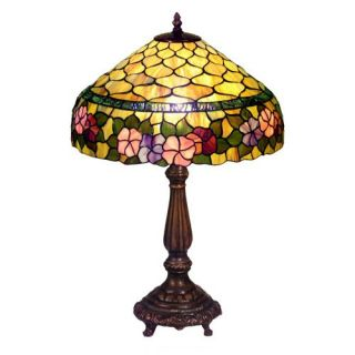 Tiffany Style Peony Table Lamp   Table Lamps