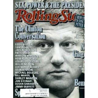 Rolling Stone November 12 1998 #799 Bill Clinton Cover and Interview, Ben Stiller, 'N Sync, R.E.M, Tom Wolfe Jann Wenner Books