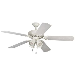 Yosemite Home Decor SHARON WH Sharon 52 in. Indoor/Outdoor Ceiling Fan   White   Ceiling Fans
