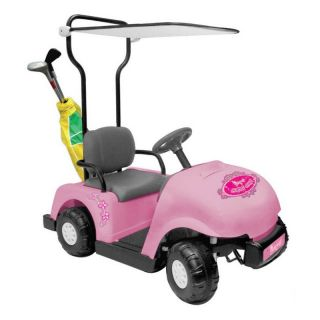Kid Motorz Junior Pro Golf Cart Battery Powered Riding Toy   Pink   Battery Powered Riding Toys