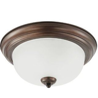 Sea Gull 79441BLE 827 Holman 1 Light Bell Flush Mount Fixture, Metal Bronze   Flush Mount Ceiling Light Fixtures