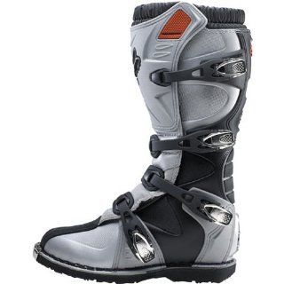 Fox Racing Tracker Youth Motocross/Off Road/Dirt Bike Motorcycle Boots   Metallic/Silver / Size 6 Automotive