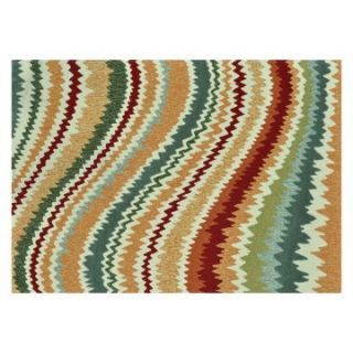 Loloi Enzo Lines EZ04 Indoor/Outdoor Area Rug   Spice   Rugs