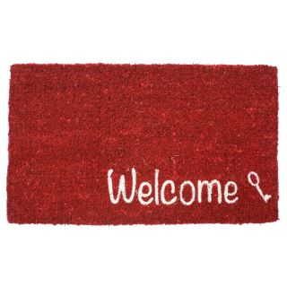 Key Welcome Hand Woven Coir Doormat   Outdoor Doormats