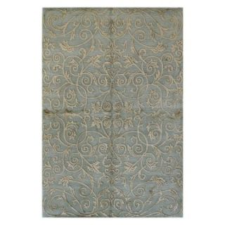 Bashian Regent Damask Scrolls VS101 Area Rug   Light Blue   Area Rugs