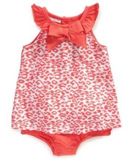 First Impressions Baby girls Leopard Print Sunsuit Infant And Toddler Rompers Clothing
