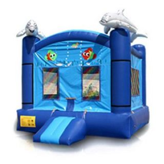 EZ Inflatables Dolphin Jumper Bounce House   Commercial Inflatables