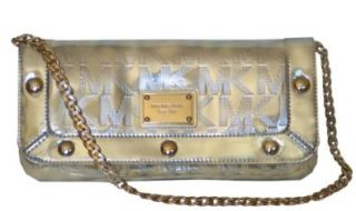 Michael Kors Mirror Metallic Delancy Clutch Handbag Bag Purse Shoulder Handbags Shoes