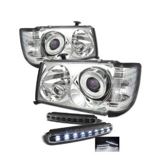 Mercedes Benz W124 E Class 1PC Halo Chrome Projector Headlights Automotive
